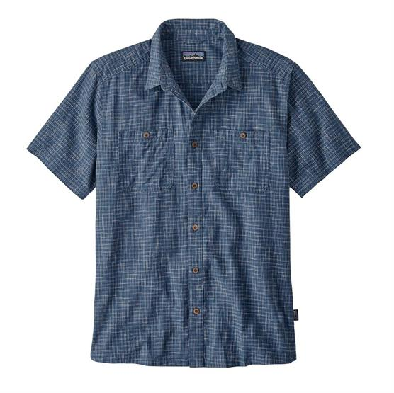 Image of   Patagonia Mens Back Step Shirt, Trails / Stone Blue