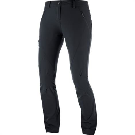 Salomon Wayfarer Tapered Pant Womens, Black