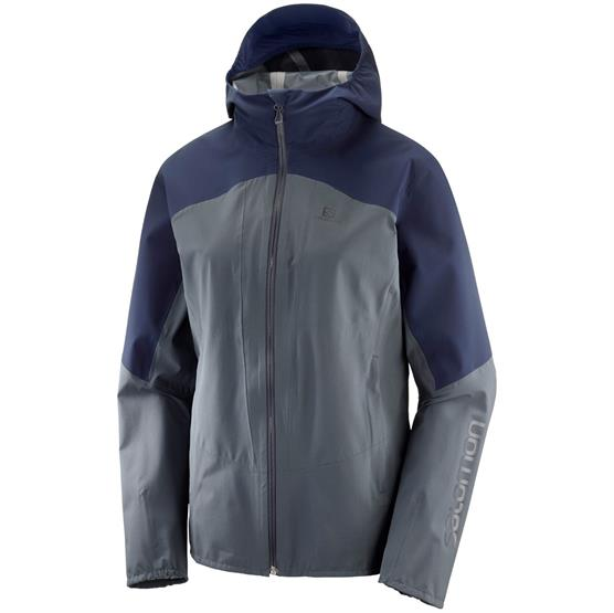 Image of   Salomon Outline Jacket Womens, Grey / Blue