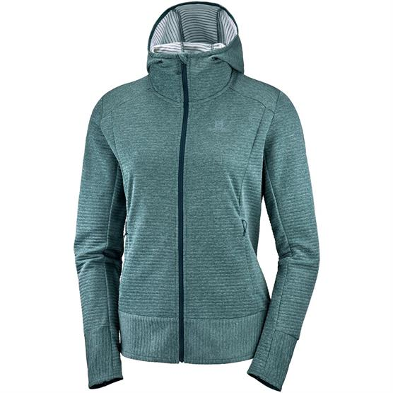 Image of   Salomon Right Nice Mid Hoodie Womens, Green