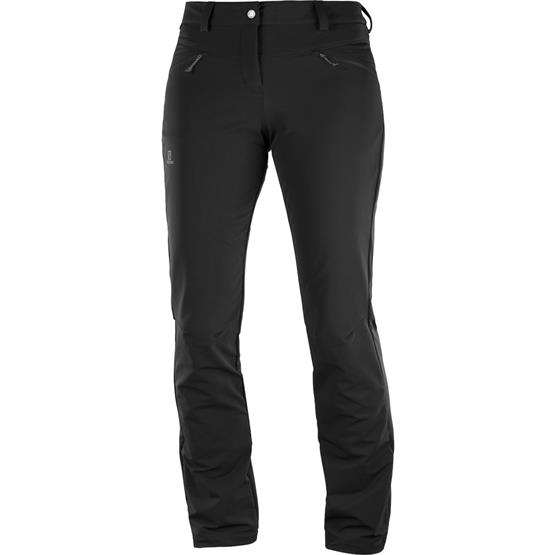 Salomon Wayfarer Straight Warm Pant Womens, Black
