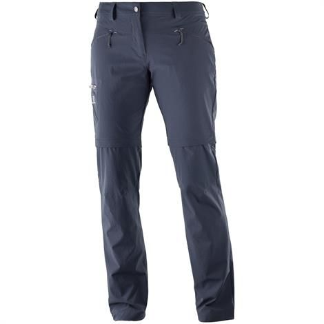 Salomon Wayfarer Straight Zip Pant Womens, Graphite