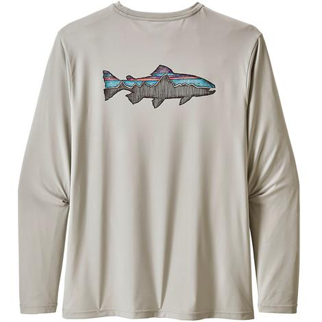 Image of   Patagonia Mens L/S Cap Cool Daily Fish Shirt, Sketched Trout