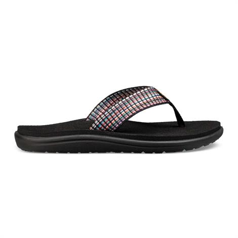 Image of   Teva Voya Flip Dame, Bar Street Multi Black
