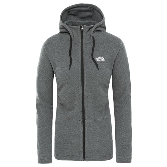 Image of   The North Face Womens Mezzaluna FZ Hoodie, Black / White